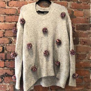 Zara confetti Pom Pom sweater